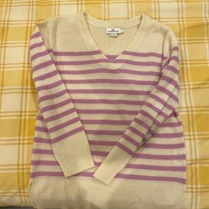 Vineyard vines stripe cashmere sweater